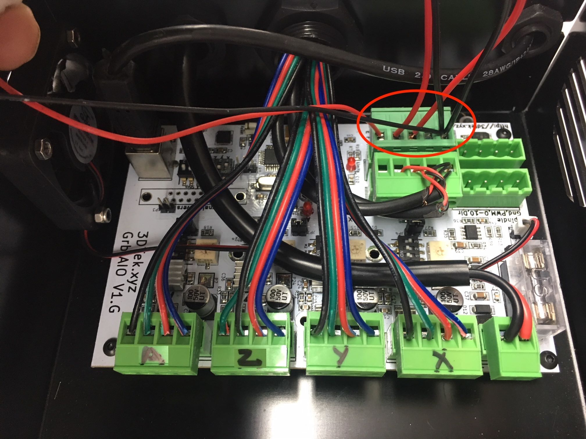 Wiring Connections Tuning And Driver Install 3dtek Xyz Carve Front Panel Click